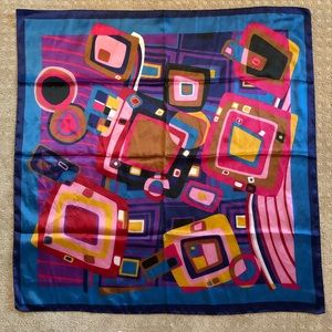 Cejon Italian Large Square Scarf/Wrap In Abstract